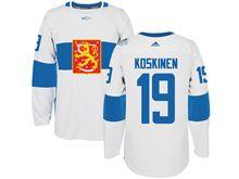 Mens Nhl Team Finland #19 Mikko Koskinen White 2016 World Cup Hockey Jersey