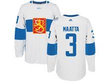Mens Nhl Team Finland #3 Olli Maatta White 2016 World Cup Hockey Jersey