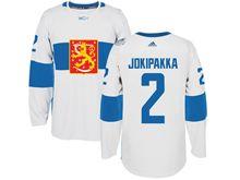 Mens Nhl Team Finland #2 Jyrki Jokipakka White 2016 World Cup Hockey Jersey