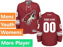 Mens Women Youth Reebok Arizona Coyotes Red Home Premier Current Player Jersey