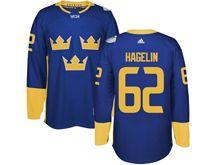 Mens Nhl Team Sweden #62 Carl Hagelin Blue 2016 World Cup Hockey Jersey