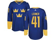 Mens Nhl Team Sweden #41 Robin Lehner Blue 2016 World Cup Hockey Jersey