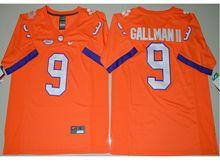 Mens Ncaa Nfl Clemson Tigers #9 Wayne Gallman Ii Orange Limited Jersey