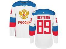 Mens Nhl Team Russia #89 Nikita Nesterov White 2016 World Cup Hockey Jersey
