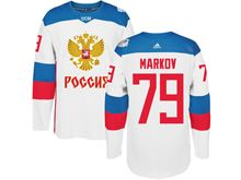 Mens Nhl Team Russia #79 Andrei Markov White 2016 World Cup Hockey Jersey