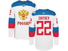 Mens Nhl Team Russia #22 Nikita Zaitsev Red 2016 World Cup Hockey Jersey