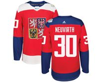 Mens Nhl Team Czech #30 Michal Neuvirth Red 2016 World Cup Hockey Jersey