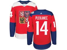 Mens Nhl Team Czech #14 Tomas Plekanec Red 2016 World Cup Hockey Jersey