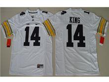 Mens Ncaa Nfl Iowa Hawkeyes #14 Desmond King White Jersey