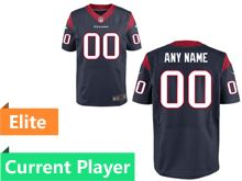 Mens Houston Texans Blue Elite Current Player Jersey