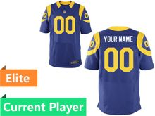 Mens Los Angeles Rams Royal Blue Elite Current Player Jersey