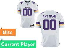 Mens Minnesota Vikings White Elite Current Player Jersey
