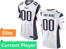 Mens New England Patriots White Elite Current Player Jersey