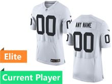 Mens Oakland Raiders White Elite Current Player Jersey