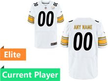 Mens Pittsburgh Steelers White Elite Current Player Jersey
