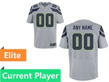 Mens Seattle Seahawks Gray Elite Current Player Jersey