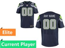 Mens Seattle Seahawks Blue Elite Current Player Jersey