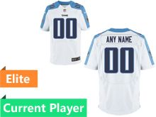 Mens Tennessee Titans White Elite Current Player Jersey