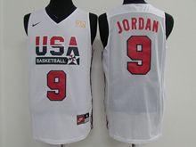 Mens Nba 1 Dream Teams #9 Michael Jordan White Jersey