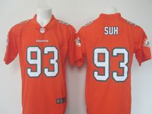 Mens   Miami Dolphins #93 Ndamukong Suh Orange Color Rush Limited Jersey