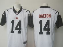 Mens   Cincinnati Bengals #14 Andy Dalton White Color Rush Limited Jersey