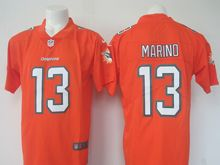 Mens   Miami Dolphins #13 Dan Marino Orange Color Rush Limited Jersey