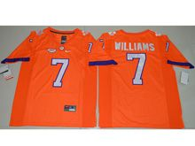 Mens Ncaa Nfl Clemson Tigers #7 Mike Williams Orange Limited Jersey