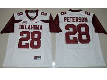 Mens Ncaa Nfl Oklahoma Sooners #28 Adrian Peterson White Limited Jersey