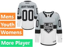 Mens Women Youth Reebok Los Angeles Kings White Gray 2015 Stadium Series Premier Current Player Jersey