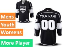 Mens Womens Youth Reebok Los Angeles Kings Black Home Premier Current Player Jersey