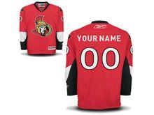 Nhl Ottawa Senators (custom Made) Red Jersey