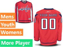 Mens Women Youth Reebok Washington Capitals Red Home Premier Current Player Jersey