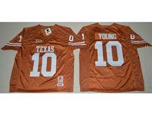 Mens Ncaa Nfl Texas Longhorns #10 Vince Young Orange Jersey