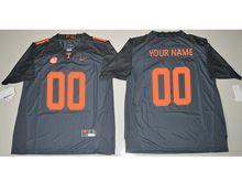 Mens Ncaa Nfl Tennessee Volunteers (custom Made) Black Limited Jersey