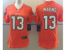 Women   Nfl Miami Dolphins #13 Dan Marino Orange Color Rush Limited Jersey