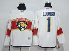 Mens Reebok Nhl Florida Panthers #1 Roberto Luongo White 2016 Jersey