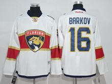 Mens Reebok Nhl Florida Panthers #16 Aleksander Barkov White 2016 Jersey
