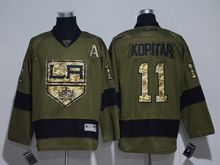 Mens Reebok Nhl Los Angeles Kings #11 Anze Kopitar Green Camo Jersey