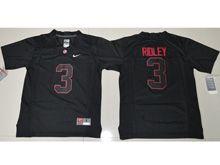 Youth Ncaa Nfl Alabama Crimson Tide #3 Calvin Ridley Black Shadow Jersey