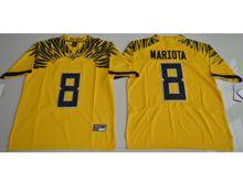 Mens Ncaa Nfl Oregon Ducks #8 Marcus Mariota Yellow Color Rush Limited Jersey