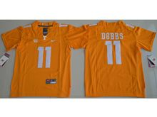 Youth Ncaa Nfl Tennessee Volunteers #11 Joshua Dobbs Orange Limited Jersey