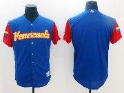 Mens Mlb Venezuela Team 2017 Baseball World Cup Blue Blank Jersey