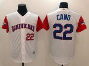 Mens Mlb Dominicana Team 2017 Baseball World Cup #22 Cano White Jersey