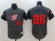 Mens Mlb Usa Team 2017 Baseball World Cup #26 Crawford Grey Jersey