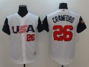 Mens Mlb Usa Team 2017 Baseball World Cup #26 Crawford White Jersey