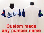 Mens Mlb Jtalia Team 2017 Baseball World Cup Custom Made White Jersey