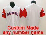 Mens Mlb Dominicana Team 2017 Baseball World Cup Custom Made White Jersey