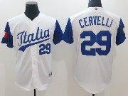 Mens Mlb Jtalia Team 2017 Baseball World Cup #29 Cervelli White Jersey