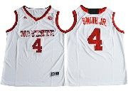 Mens Ncaa Nba Nc State Wolfpack #4 Dennis Smith White College Basketball Jersey