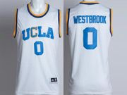 Mens Ncaa Nba Ucla Bruins #0 Russell Westbrook White Basketball Jersey